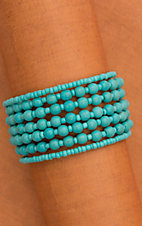 Turquoise Beaded Multistrand Wrap Bracelet 710362