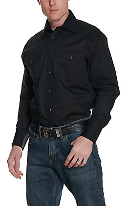 Wrangler Men's Black Long Sleeve Western Shirt