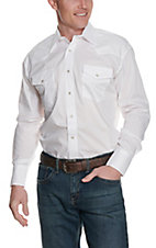 Wrangler Long Sleeve White Western Shirt 71105WH3- Big & Talls