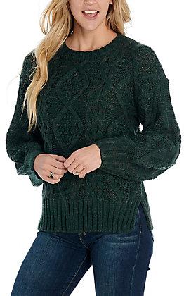 Hem & Thread Women's Emerald Green Sweater