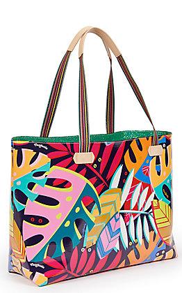 Consuela Maya Palm Print Big Breezy East/West Tote Bag