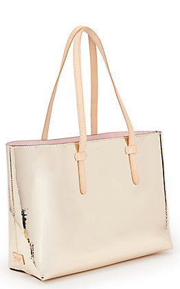 Consuela Goldie Gold Metallic Breezy Tote Bag