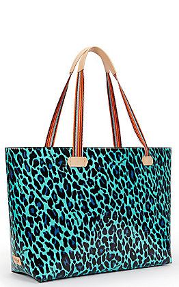 Consuela Gem Leopard Print Big Breezy East/West Tote Bag