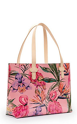 Consuela Brynn Flamingo Big Breezy East/West Tote Bag