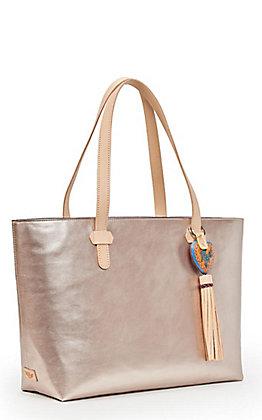 Consuela Rose Matte Soft Gold Big Breezy East/West Tote Bag
