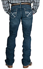 Cinch Men's Dark Wash Ian Mid Rise Slim Boot Cut Jean 72936001