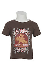 Cowboy Hardware Boy's Brown with Too Tough to Cry Short Sleeve T-Shirt