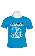 Cowboy Hardware Boy's Toddler Blue Outlaw S/S T-Shirt