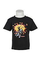 Cowboy Hardware Toddlers Black Bam Bull Rider Short Sleeve Tee