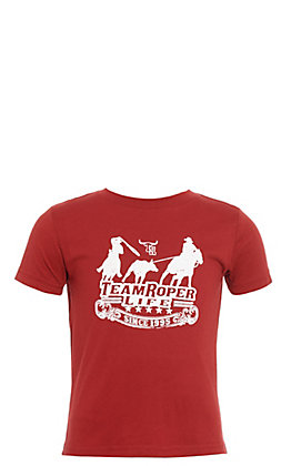 Cowboy Hardware Toddlers' Burgundy Team Roper Life Short Sleeve Tee