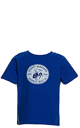 Cowboy Hardware Toddlers' Royal Blue Bronc Bust'n Short Sleeve T-Shirt