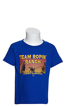 Cowboy Hardware Toddlers' Blue Team Ropin' Ranch Graphic Short Sleeve T-Shirt