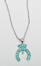 Isac Turquoise Squash Blossom Necklace