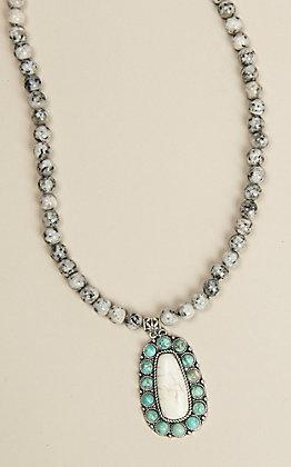 Wired Heart Women's Jasper Pendant Necklace