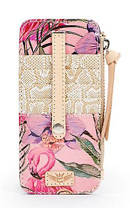 Consuela Brynn Pink Flamingo Print Card Organizer