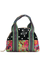 Consuela Black Polka Dot with Floral Legacy U Tote