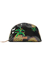 Consuela Black Pineapple Large Cosmetic Bag