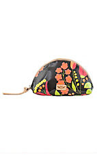 Consuela Neon Floral Medium Dome Cosmetic Bag