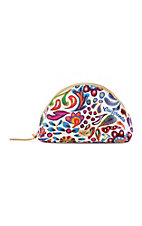 Consuela White Swirly Large Domed Cosmetic Case
