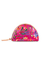 Consuela Pink Swirly Large Domed Cosmetic