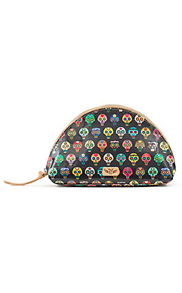 Consuela Tiny Large Skull Cosmetic Bag