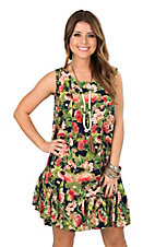 Uncle Frank Women's Red Cactus Print Dress