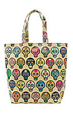 Consuela Sugar Skulls Grocery Bag