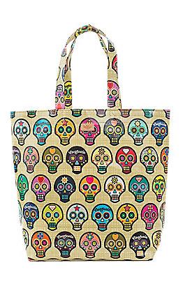 Consuela Sugar Skulls Grocery Bag