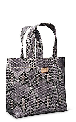 Consuela Flynn Grey Snake Grab N Go Mini Bag