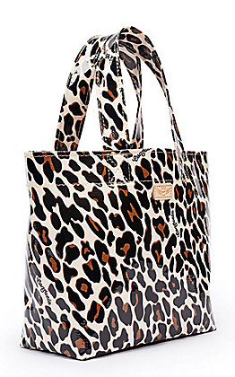 Consuela Mona Tan & Black Leopard Print Mini Grab N Go Bag
