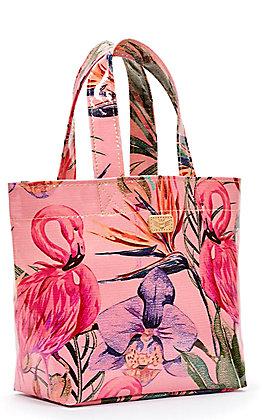 Consuela Brynn Pink Flamingo Print Mini Grab N Go Bag