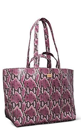 Consuela Aurora Pink Snake Grab No Go Jumbo Bag