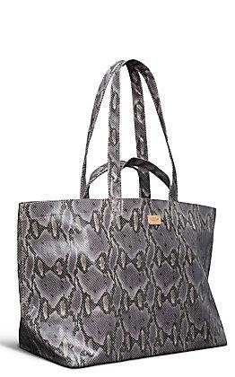 Consuela Flynn Grey Snake Grab No Go Jumbo Bag