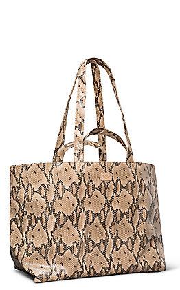 Consuela Margot Brown Snake Grab No Go Jumbo Bag