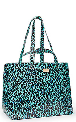 Consuela Gem Turquoise Leopard Print Jumbo Grab N Go Bag