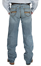 Cinch Men's Light Stonewash Grant Mid Rise Relaxed Fit Boot Cut Jean 77537001