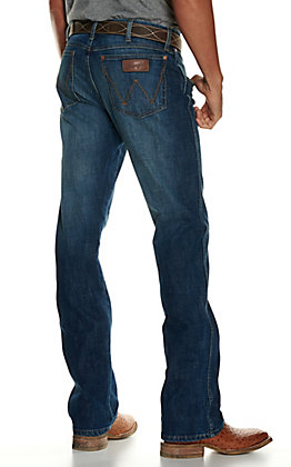 Wrangler Retro Men's Mount Bonnell Medium Wash Slim Fit Boot Cut Jean - Cavender's Exclusive
