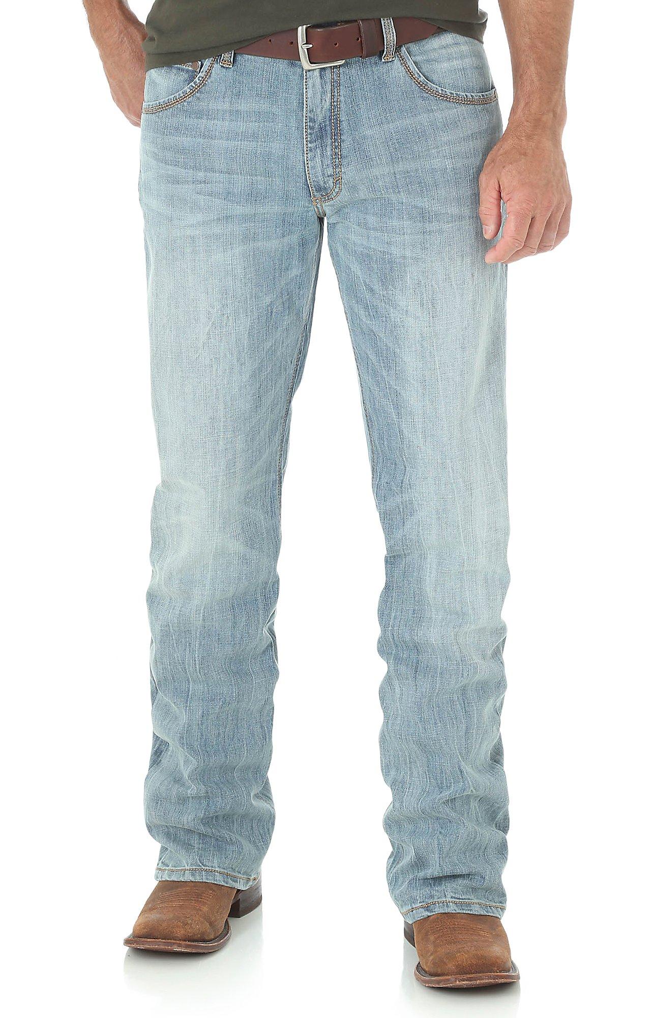 Wrangler Retro Men's Light Wash Slim Boot Cut Jeans   Cavender's