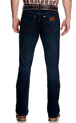 Wrangler Retro Men's Premium Lockhart Dark Wash Slim Fit Bootcut Jeans