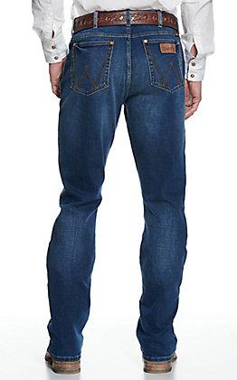 Wrangler Retro Men's Monroe Medium Wash Slim Fit Stretch Boot Cut Jeans