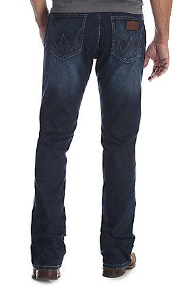 3e562b2ef85 Wrangler Retro Men's Park City Dark Wash Slim Fit Bootcut Stretch Jeans