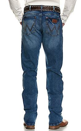 Wrangler Retro Men's Paris Medium Wash Slim Fit Stretch Boot Cut Jean