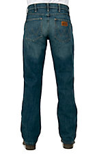 Wrangler Mens Premium Patch River Wash Slim Fit Tall Jeans