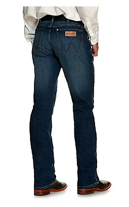 Wrangler Retro Men's Santa Elena Medium Wash Slim Fit Boot Cut Jean
