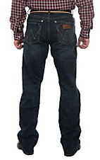 Wrangler Retro Men's Dark Wash Slim Boot Cut Jeans