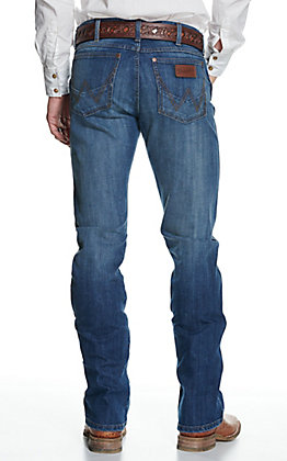 Wrangler Retro Men's Irvine Medium Wash Slim Fit Stretch Boot Cut Jeans