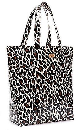 Consuela Mona Tan & Black Leopard Print Grab N Go Basic Tote