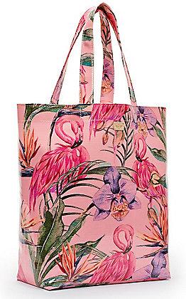 Consuela Brynn Pink Flamingo Print Grab N Go Basic Tote