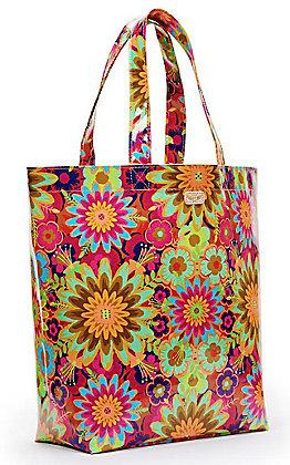 Consuela Trista Multi Floral Print Grab N Go Basic Tote