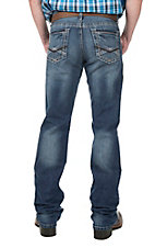 Cinch Men's Medium Wash Mid Rise Slim Boot Cut Jeans